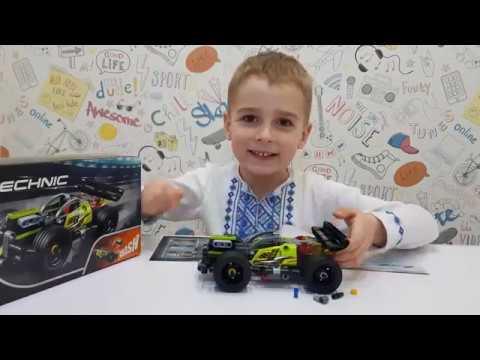 Обзор конструктора LEGO TECHNIC Зеленый гоночный автомобиль (42072) из rozetka.ua