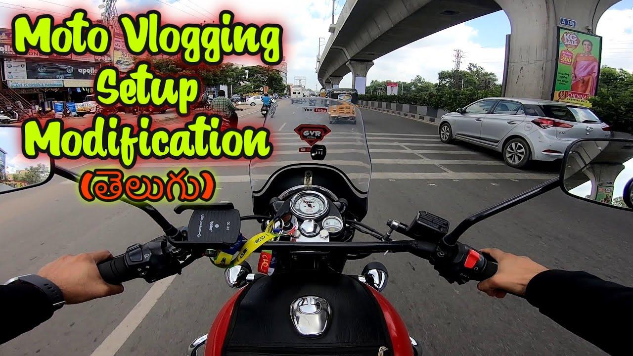 Moto Vlogging GoPro Setup Modification | Action Camera Chin Mount on Helmet | Telugu | GVR Films