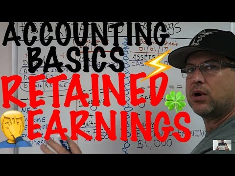 Accounting for Beginners #38 / Retained Earnings / Balance Sheet / Journal Entry / Accounting Basics