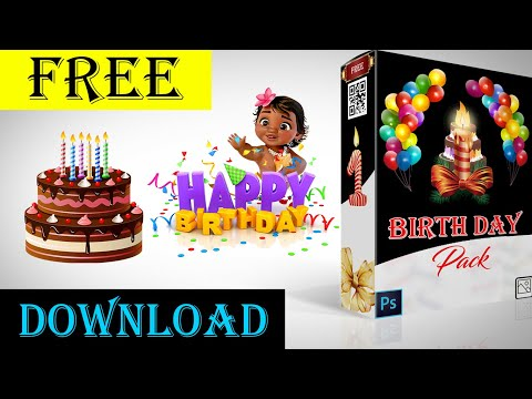 Birthday PNG Pack Free  | Studio MS