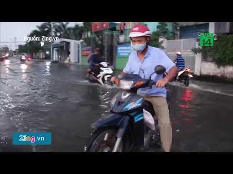 TP HCM: Triều cường kết hợp mưa lớn, đường phố lại ngập   VTC14
