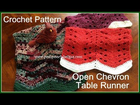 Open Chevron Table Runner Crochet Pattern