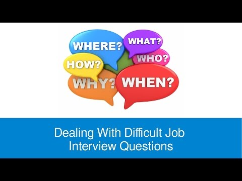 Dealing With Difficult Job Interview Questions - FindMyDreamJob.co.uk