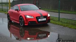 Audi TT mat red chrome