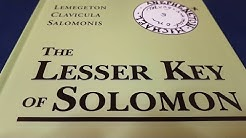 Lemegeton Clavicula Solomonis - The Lesser Key of Solomon by Joseph Peterson - Esoteric Book Review