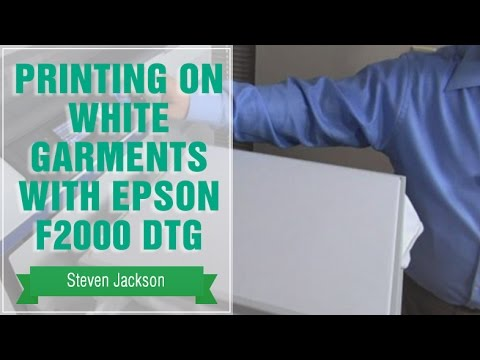 Printing on White Garments with Epson F2000 DTG