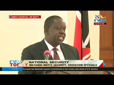 CS Fred Matiang'i insists transfer of school principals is government policy