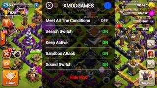 как пользоваться программой xmodgames в clash of clans