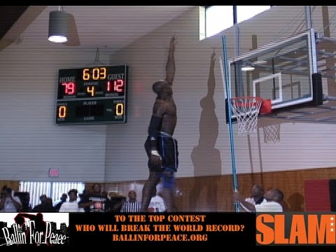 Highest Jumper In The World Doug Thomas Goes To The Top Of The Backboard 13 Feet - Ballin' For Peace