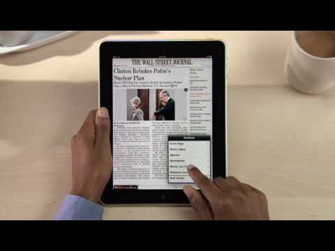 Apple iPad Guided Tour: The Wall Street Journal