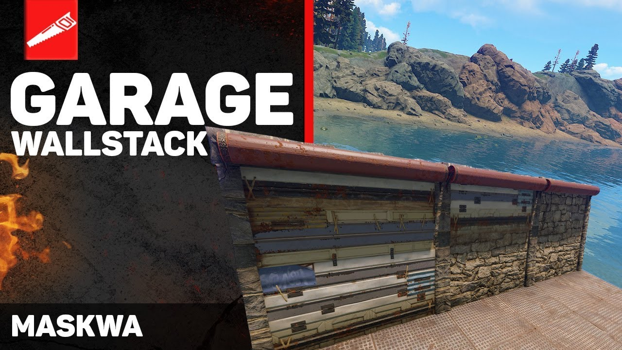 Patched Garage Wall Stack Rust Advanced Building 40 Rust Wall Stacking Rust Exploit Youtube