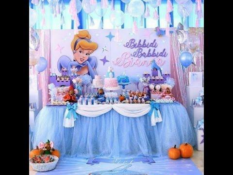 Fiesta de cenicienta fiestas infantiles decoracion mesa - Mesa dulce infantil ...