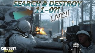 WWII - SICK 11-0 LIVE SEARCH & DESTROY GAMEPLAY W FACECAM! MERCILESS, JUICY SOCK & MORE!