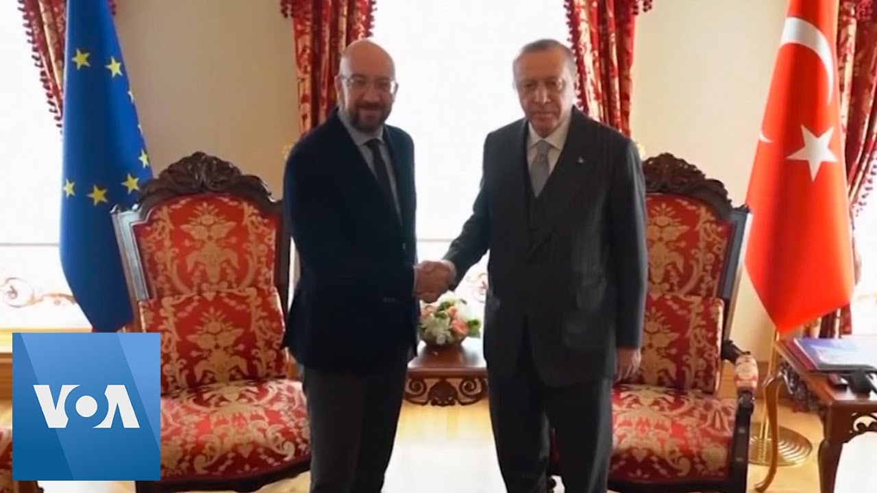 Turkish President Recep Tayyip Erdogan Hosts EU Council President