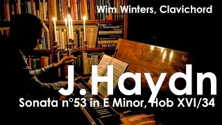 Wim Winters plays HAYDN Sonata n°53 in E minor Hob XVI/34