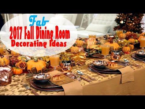 2017 Fall Dining Room Decoration Ideas