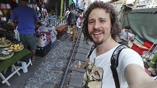 Explorando el mercado más riesgoso de Tailandia | MAEKLONG 🇹🇭