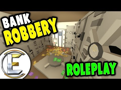 BANK ROBBERY | Rob the bank without a plan it leads to a hostage situation - Unturned Roleplay