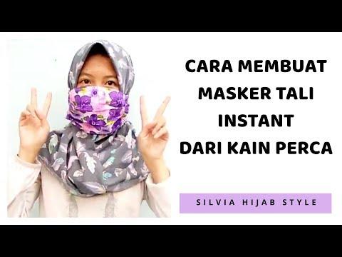 #10. DIY : Tutorial Cara membuat Masker Kain Instan dari kain perca - how to make a fabric mask