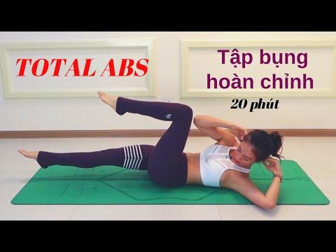 Seri TẬP BỤNG - Bài 5 TẬP BỤNG HOÀN CHỈNH - TOTAL ABS ♡Bụng khỏe - Eo thon ♡ Yoga By Sophie