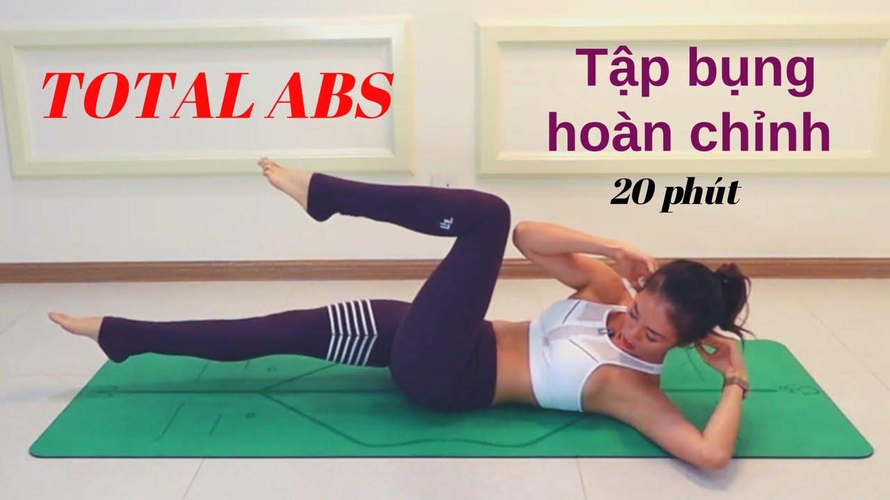 Seri TẬP BỤNG – Bài 5 TẬP BỤNG HOÀN CHỈNH – TOTAL ABS ♡Bụng khỏe – Eo thon ♡ Yoga By Sophie