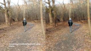 Hover Camera Video Stabilized (using iMovie) vs. Non Stabilized