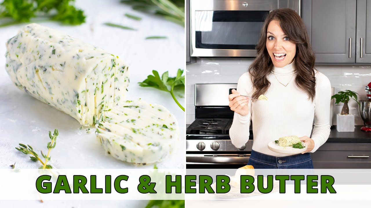 Quick Easy Homemade Garlic Butter With Herbs Youtube
