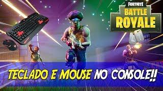 🔵 FORTNITE PS4 - JOGANDO COM TECLADO E MOUSE NO CONSOLE NO BATTLE ROYALE!!!