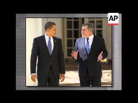 One short walk at the White House featuring President Barack Obama and British Prime Minister Gordon