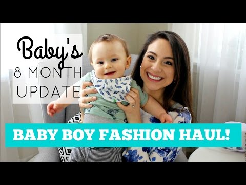 BABY BOY FASHION HAUL 9-12 MONTHS + BABY'S 8 MO. UPDATE + MY BABY THROWS UP ON CAMERA!!?