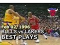 Feb 02 1996 Bulls vs Lakers highlights