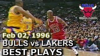 Feb 02 1996 Bulls vs Lakers highlights