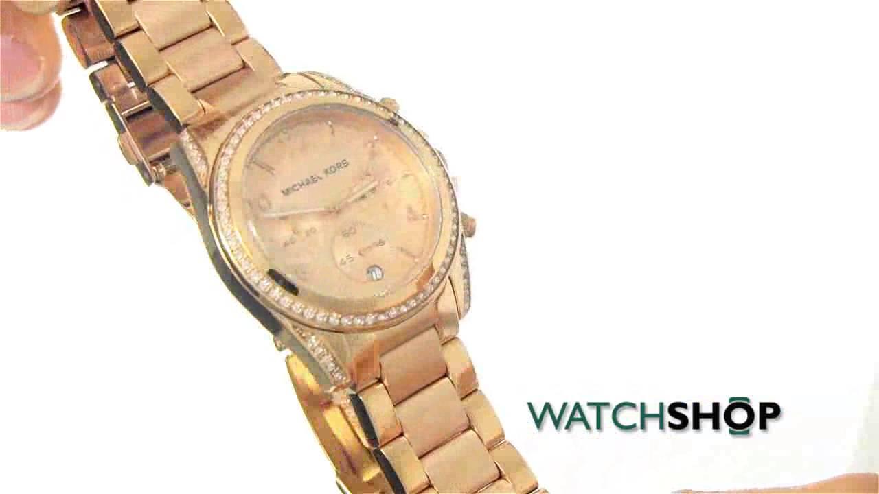b2d4fe37b Michael Kors Ladies' Blair Chronograph Watch (MK5263) - YouTube