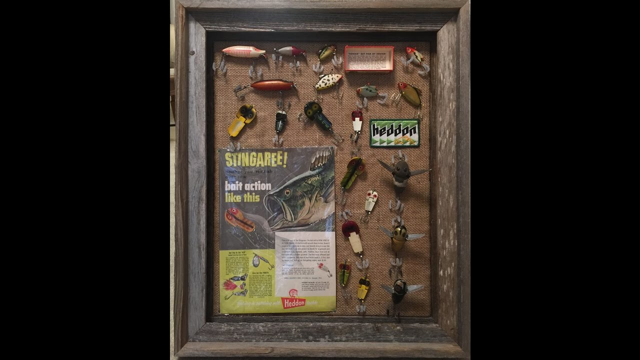 Shadow Boxes For My Vintage Fishing Lures