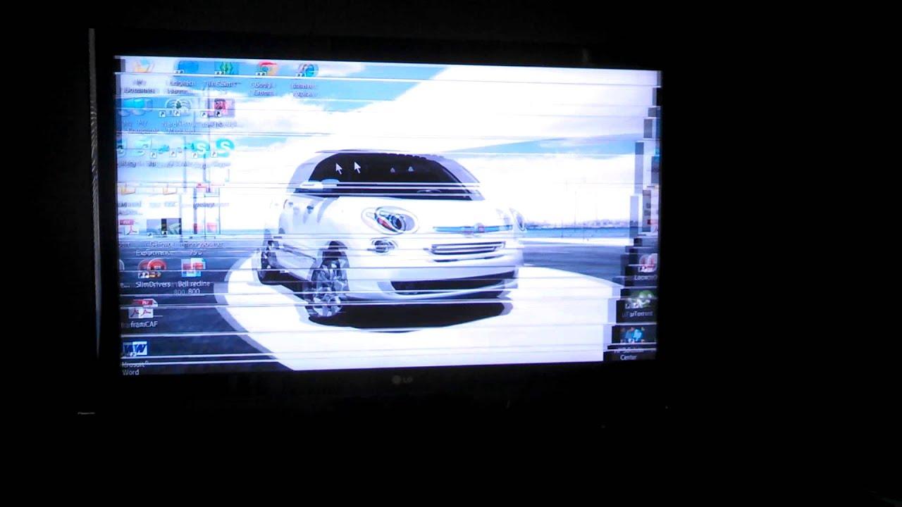 LG 46LD550 HDTV flickering Horizontal Lines