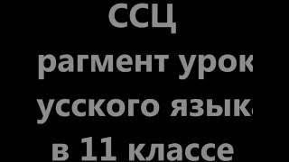 11 КЛАСС  Сложное синтаксическое целое.