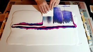 Swipe using Leftover Paint - Acrylic Pouring Techniques