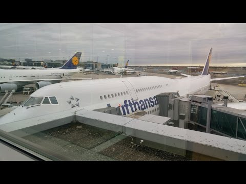 Frankfurt Airport: 747-8 D-ABYS Taxi and departure LH 400