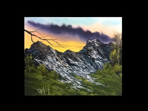 FREE PAINTING LESSON - Landscape painting- Painting With Magic season 4 ep 9 (High on the mountain)