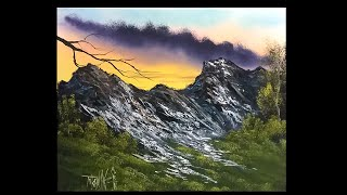 free painting lesson   landscape painting  painting with magic season 4 ep 9 high on the mountain