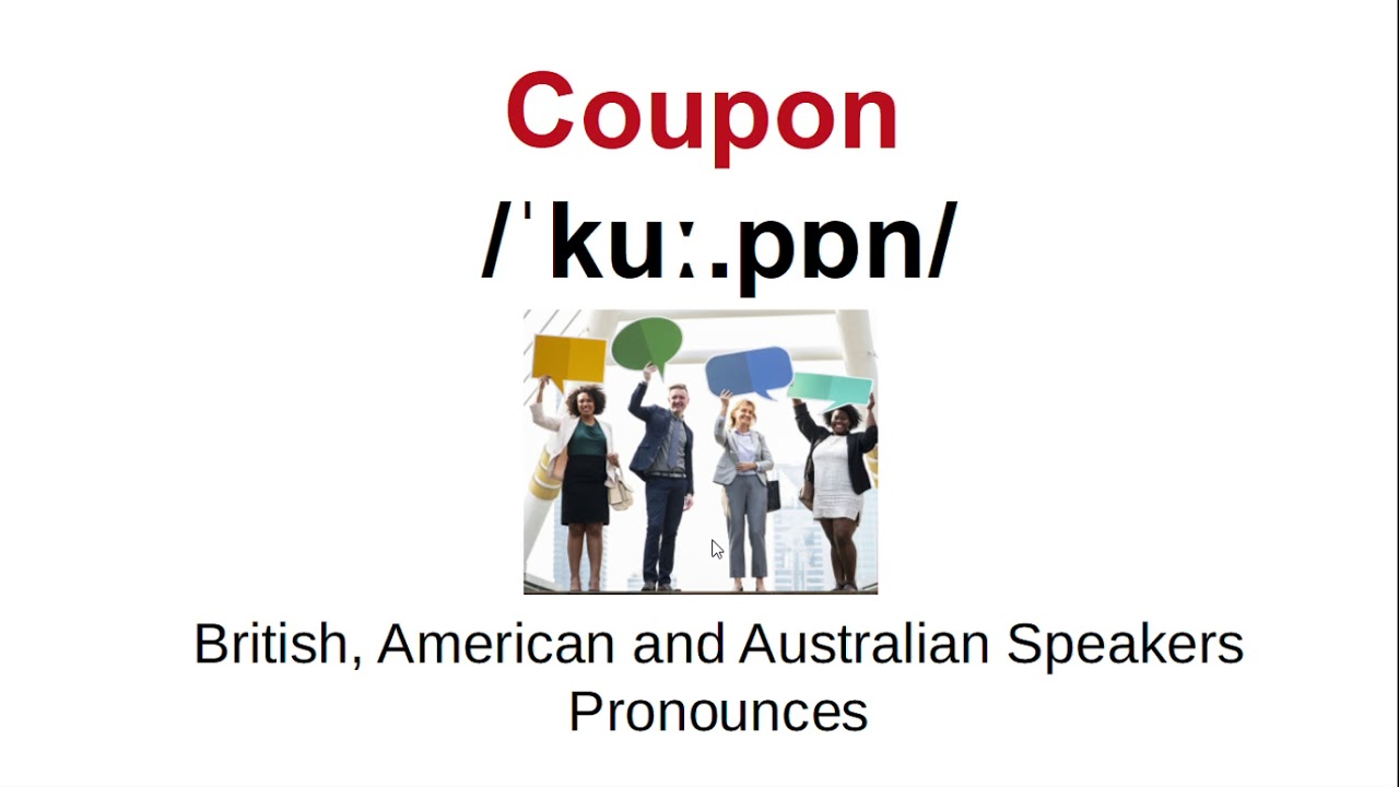 How To Pronounce Coupon Youtube