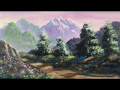 How To Make A Beautiful Scenery Painting | Nature Painting | Art Candy | Landscape Painting Tutorial