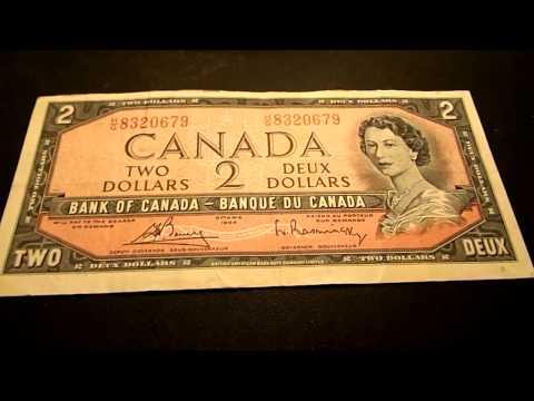 1954 Two Dollar Bill Canada