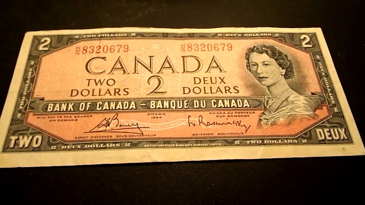 1954 Two Dollar Bill Canada