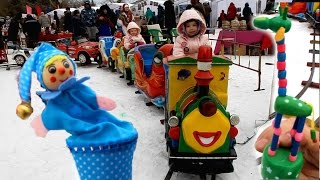 VLOG: МАСЛЕНИЦА ДЕНЬ 2(ч1). Детские аттракционы: карусель - паровозик, батут. Катание на пони!(, 2016-04-09T06:47:42.000Z)