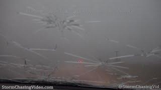 Severe Storms, Baseball Sized Hail Hits Kansas Motorists - 5/21/2020