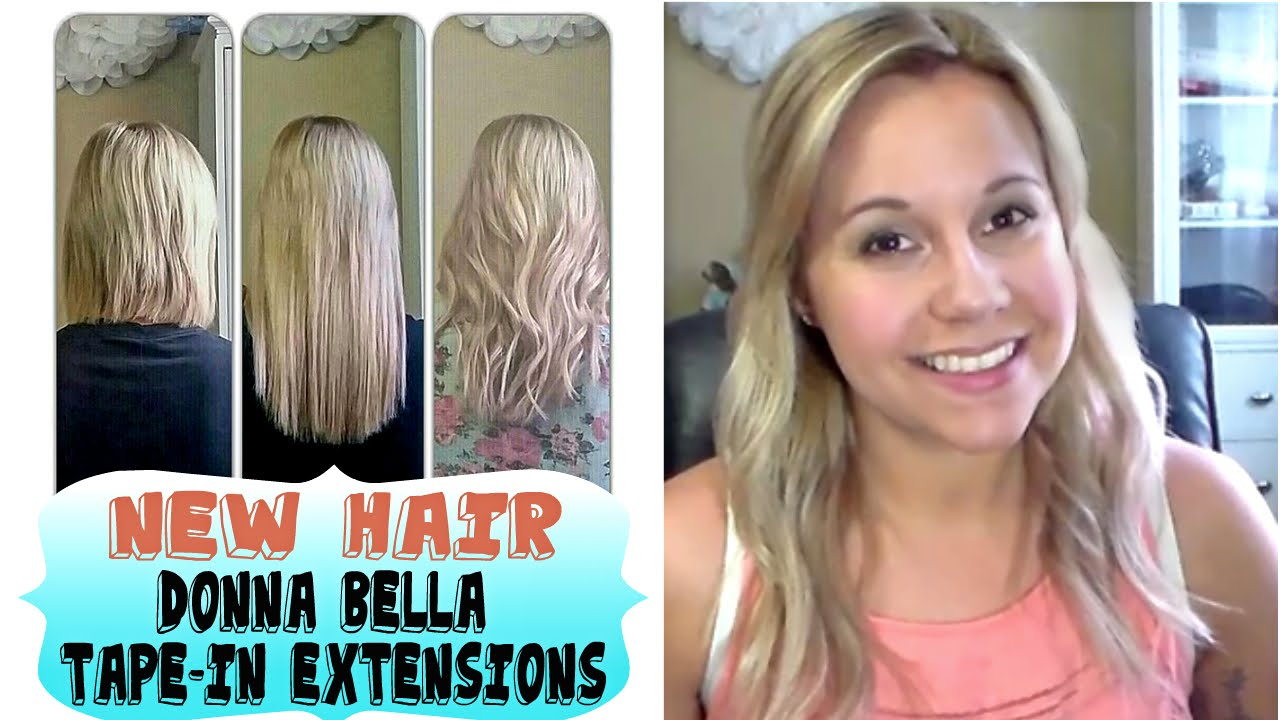 New Hair Extensionsdonna Bella Tape Inshort To Long Youtube