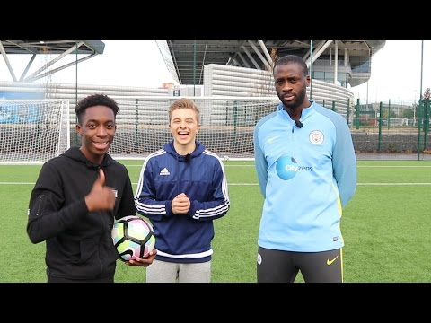 CROSSBAR CHALLENGE WITH YAYA TOURE AND CHRIS MD!!! *Contains flashing images*