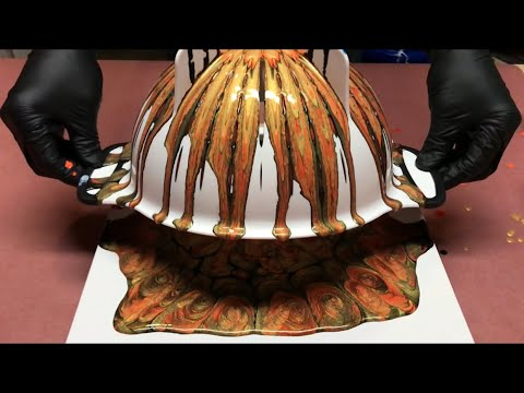 Fluid Painting Acrylic Colander Pour? Please Share and Subscribe..