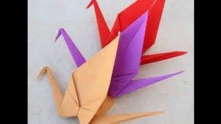 تعلم طريقة عمل طائر الكركى عن طريق طى الورق | فن الاوريجامى